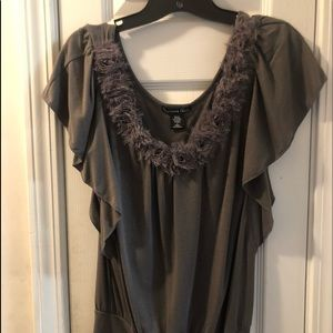 Gray Charlotte Russe Top